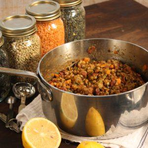 DL.Lentils with Bacon Tarragon CredirCulinart LTD
