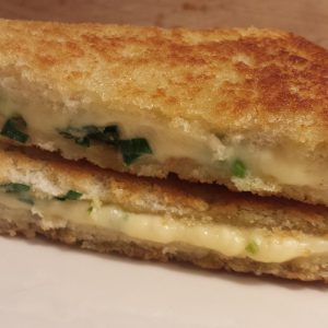 Grilled Cheese with Garlic Greens 1